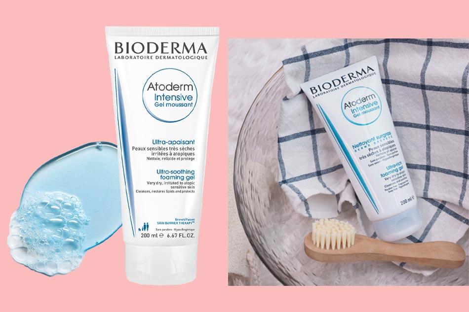 Sữa rửa mặt cho da khô, da thường: Bioderma Atoderm Intensive Gel Moussant màu trắng