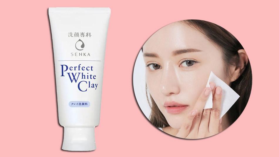 Sữa rửa mặt dành cho da dầu Senka Perfect White Clay
