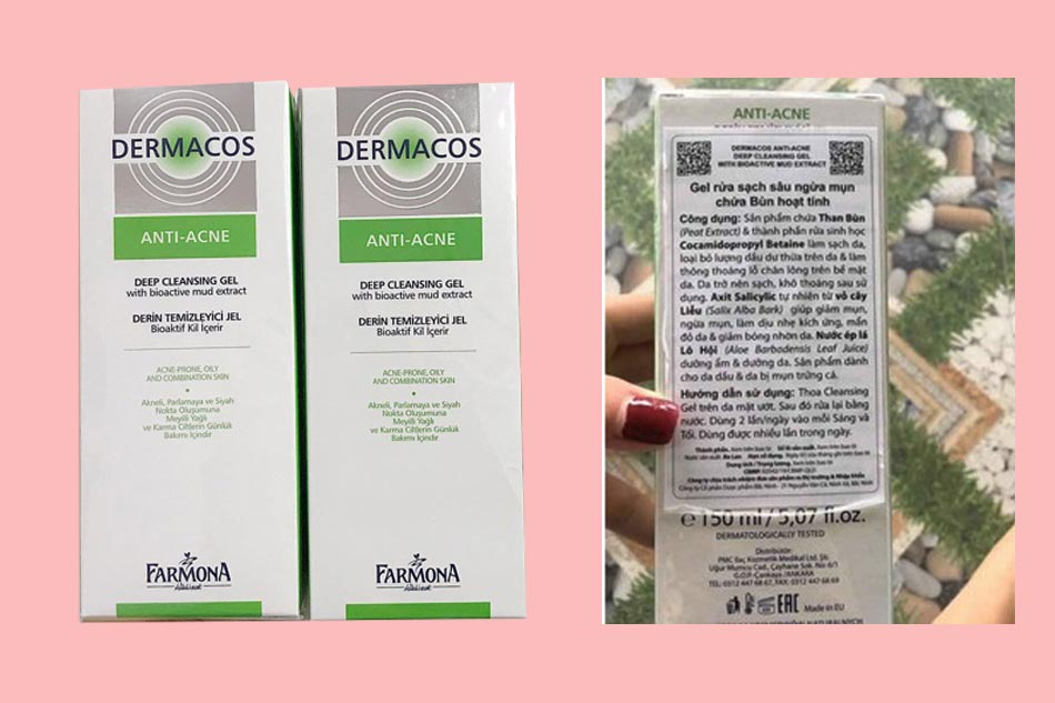 Hướng dẫn sử dụng sữa rửa mặt Dermacos Anti Acne hiệu quả