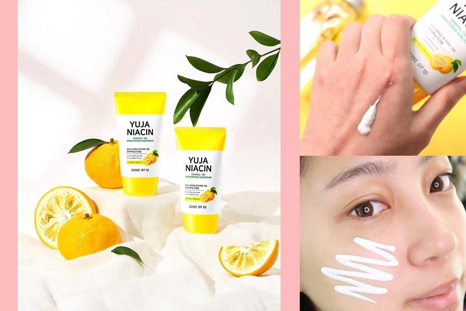 Kem chống nắng Some By Mi Yuja Niacin Mineral 100 Brightening Sun Cream 50ml màu vàng