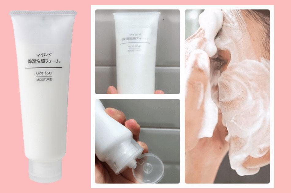 Sữa rửa mặt Muji Face Soap màu trắng