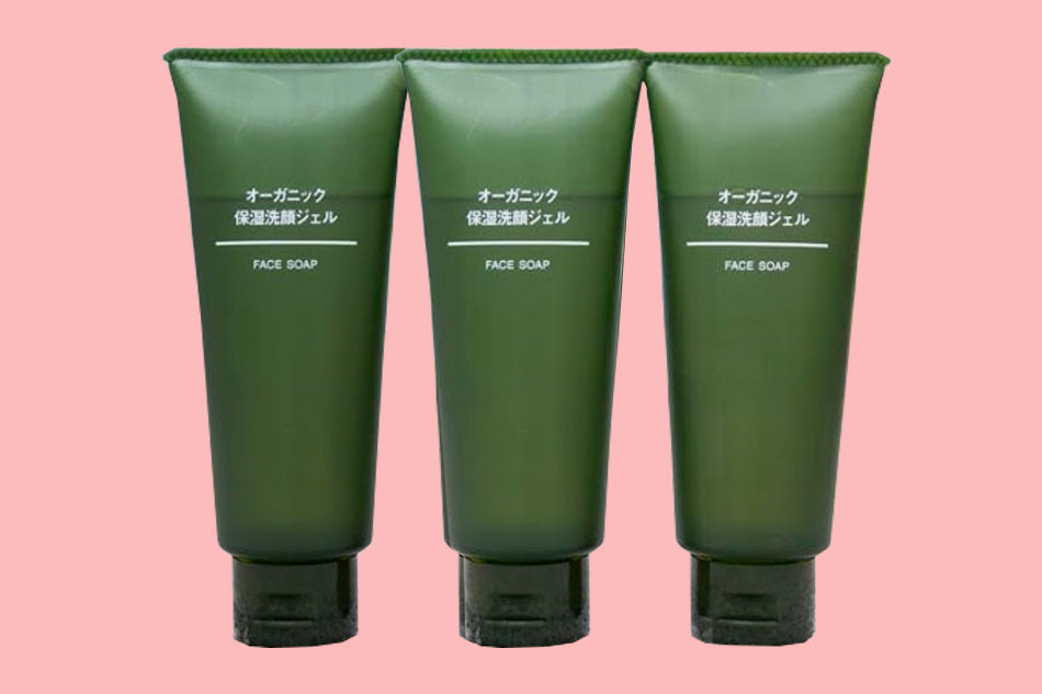 Sữa rửa mặt Muji Face Soap Organic màu xanh