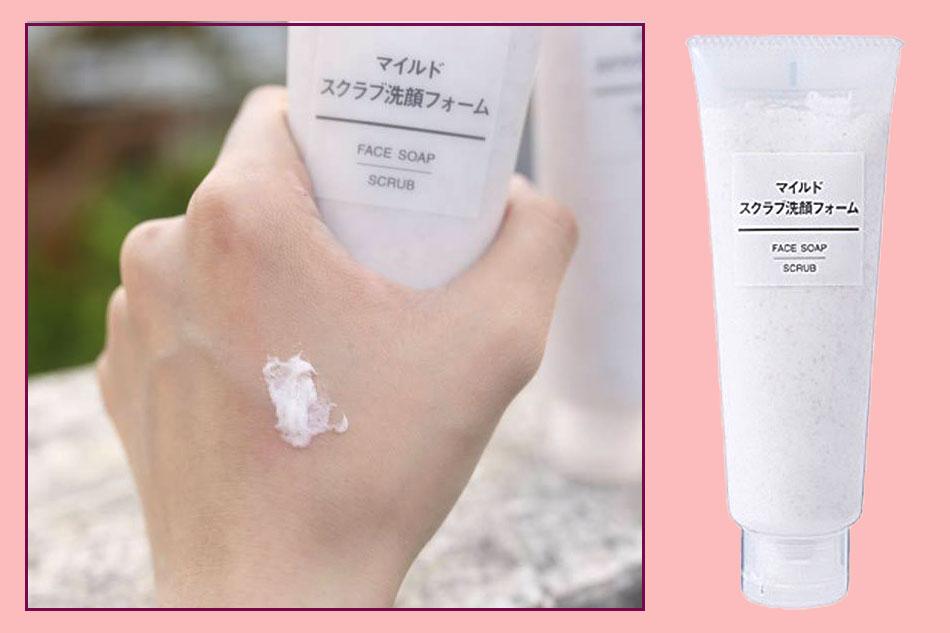Sữa rửa mặt Muji Face Soap Scrub có hạt tẩy tế bào chết