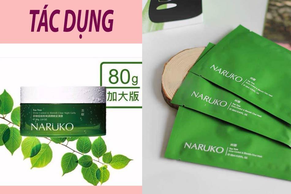 Tác dụng của mặt nạ tràm trà Naruko