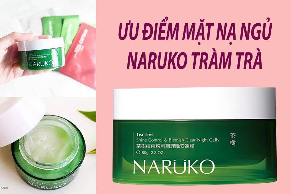 Ưu nhược điểm của Mặt nạ ngủ Naruko tràm trà