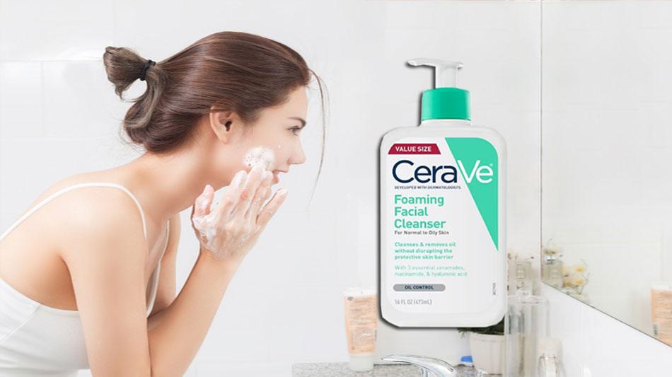 Sữa rửa mặt dành cho da dầu CeraVe Foaming Facial Cleanser có tốt không